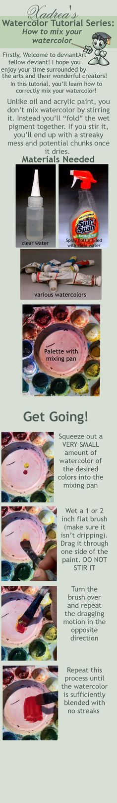 Watercolor Tutorial: How to Mix Watercolor by Xadrea