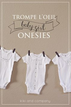 For my baby girl. free baby onesie project at kiki and company.