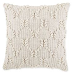 Asher Wishbone Square Throw Pillow In Natürlich - Kissen
