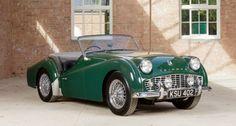 1959 Triumph TR3 A  British racing green I believe