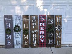 porch sign welcome sign welcome porch sign spring porch sign holiday porch sign Christmas porch sign welcome sign with wreath Welcome Signs Front Door, Front Porch Signs, Front Door Decor, Front Doors, Holiday Signs, Christmas Signs, Christmas Decorations, Holiday Decor, Holiday Ideas