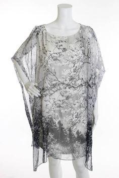 NWT MARY KATRANTZOU Black White Floral Print Kimono Sleeve Mini Dress Sz 14  #MaryKatrantzou #Shift #Cocktail