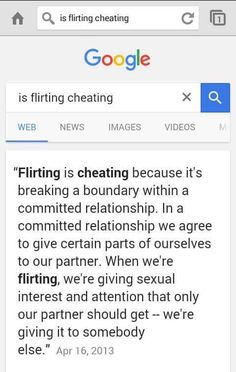 Is flirting cheating?