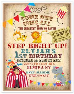 10 Circus Carnival Clown Birthday Party Invitations Custom Printed Envelopes
