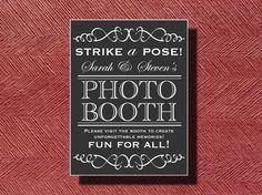 Wedding Photo Booth Sign by WeddingsByJamie on Etsy, $15.00