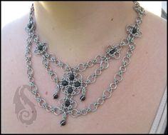 Drapery by immortaldesigns.deviantart.com on @deviantART. chainmail, beads, multi-strand, complex