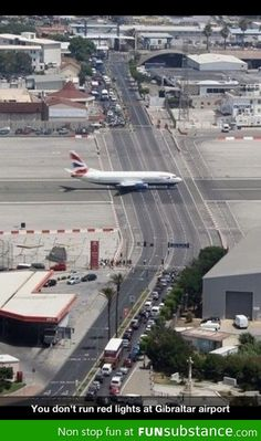 Gibraltar airport -- now you have to add The Rock of Gibraltar!!  : )