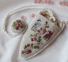 """For Needlework Smalls lovers all over. PLEASE post your Needlework Smalls finishes. Let's make this the largest source of Smalls """"Inspiration"""" on the net. Please make sure your Smalls are in a finished form. Sewing Case, Sewing Box, Ribbon Embroidery, Cross Stitch Embroidery, Embroidery Ideas, Cross Stitch Designs, Cross Stitch Patterns, Motifs Blackwork, Cross Stitch Finishing"""