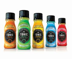 Packaging by Little Big Brands for fruit based energy shot range Tonic