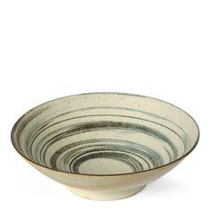 Brown Swirl Serving Bowl