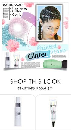 """Puttin' On the Ritz: Glitter Hair"" by dolly-valkyrie ❤ liked on Polyvore featuring beauty, Boohoo, NYX and glitterhair"
