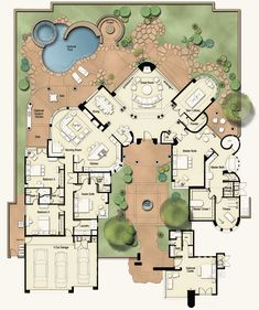 Castillo-map Like the front court yard but have always wanted a side entry garage. Keep it simple. Like the master shower idea.