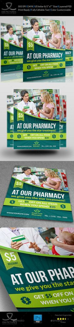 Pharmacy Flyer Template #flyer Download: http://graphicriver.net/item/pharmacy-flyer-template-vol3/11527147?ref=ksioks
