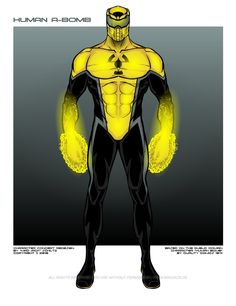 Human A-Bomb is based on a public domain character. This (copyrighted) original character concept was realized with Original: pdsh. Human A-Bomb Alien Character, Comic Character, Character Concept, Superhero Stories, Superhero Characters, Hulk Sketch, Alternative Comics, Larp Armor, Black Comics