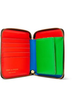 c4de265bbb89ed Neon-blue, orange and green leather (Goat) Zip fastening along top and