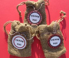 12 Western Red paisley Thank You Favor Tags by DKDeleKtables