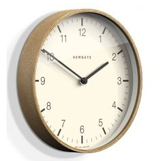 Newgate Clocks Mr Clarke Light Wood 53cm Arabic Wall Clock