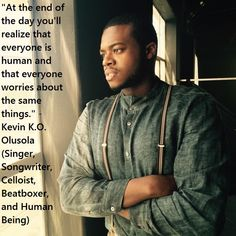 A great picture of Kevin Olusola (Pentatonix).
