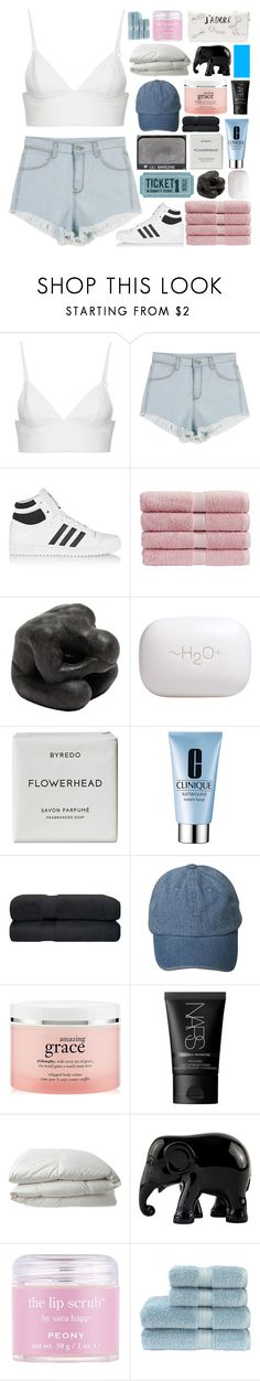 """Transient"" by heart-is-beating-loud ❤ liked on Polyvore featuring T By Alexander Wang, adidas Originals, Christy, Oly, H2O+, NARS Cosmetics, Byredo, Clinique, philosophy and Nimbus"