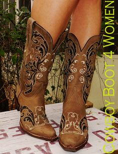 Ariat Women's Caballera Cowgirl Boots - Weathered Brown http://www ...