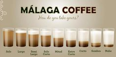 Málaga coffee. How do you take yours?