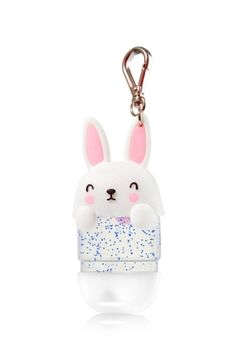 Bunny - PocketBac Holder - Bath & Body Works - A pink cottontail makes this little bunny extra cute! The convenient clip attaches to your backpack, purse and more so you can always keep your favorite PocketBac close at hand.