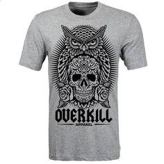 Overkill Apparel Sugarskull Owl - #teeshirt #mens t shirts. ORDER HERE => https://www.sunfrog.com/Funny/Overkill-Apparel-Sugarskull-Owl.html?60505
