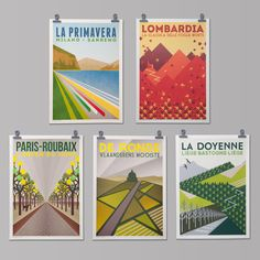 CYCLING ART PRINT: THE MONUMENTS COLLECTION' – The Handmade Cyclist