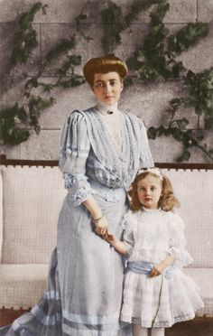 Princess Marie Louise of Baden and her daughter Marie Alexandra.
