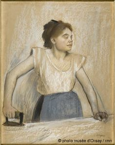 The ironer 1869 Degas Charcoal, white pastel, & chalk on paper Orsay Museum