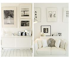 love the white frames/matting.  white on white on more white...  and a little grey/black.  ;)