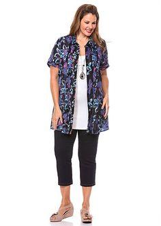 #Virtu Garden Sketch Tunic Shirt #plussize #curvy #takingshape