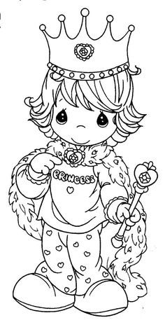 Hello Kitty Coloring Pages: PRINCESS PICTURE TO COLOR
