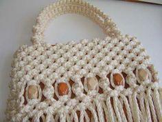 Purses/Handbags – Page 2 – This Year's Dozen Macrame Bracelet Tutorial, Macrame Bracelets, Macrame Bag, Macrame Knots, Baby Girl Crochet, Types Of Bag, Purses And Handbags, Straw Bag, Free Pattern