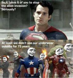 avengers funny real | Tag Archives: avengers vs man of steel meme