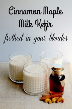 Toasted Cashew Milk Kefir Drink