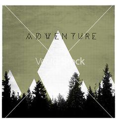 Forest adventures outdoor background concept vector