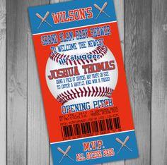 Toronto Blue Jays Inspired Baseball Baby Shower Invitation Baseball Ticket Invitation Couples Shower Printable Baby Shower Invitation