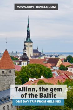 Tallinn, the gem of the Baltic: one day trip from Helsinki — ARW Travels One Day Trip, Cities In Europe, Back In Time, Town Hall, Helsinki, Old Town, Innovation, Transportation, Medieval
