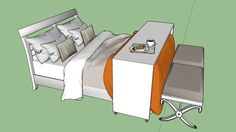 Large preview of 3D Model of Cama Casal Completa