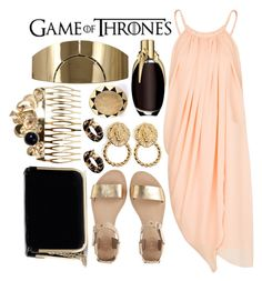 """""""Shae- Game of Thrones"""" by cmassaro ❤ liked on Polyvore featuring MANGO, Lanvin, House of Harlow 1960, Sol Sana, GUESS by Marciano, River Island, Mina Ro Mina and GameOfThrones"""