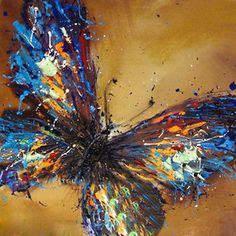 Pure Hand-painted Abstract Oil Painting On Canvas Butterfly / NO Frame Y0309P