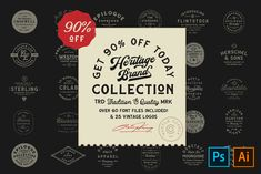 The Heritage Brand Collection by Hustle Supply Co. on @creativemarket