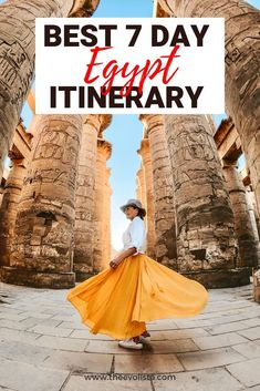 The Best Egypt Itinerary 7 Days in Cairo, Luxor & Aswan Egypt Travel, Africa Travel, Middle East Destinations, Travel Destinations, Nile River Cruise, Luxor Temple, Valley Of The Kings, Visit Egypt, Pyramids Of Giza