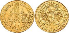 Holy Roman Empire AV 10 Dukaten 1633 Prague Mint Emperor Ferdinand II 1619-37