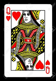 Image result for queen of hearts playing card