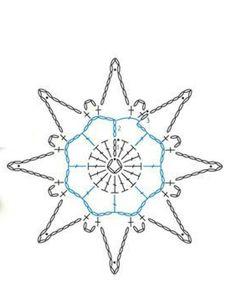 Crochet Diagram, Crochet Motif, Crochet Doilies, Crochet Lace, Crochet Snowflake Pattern, Christmas Crochet Patterns, Crochet Snowflakes, Snowflake Craft, Christmas Snowflakes