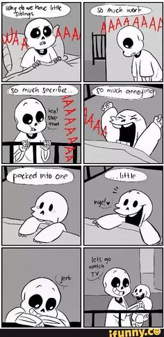 sans and papyrus - skelebros comic.