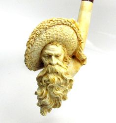 ANTIQUE MEERSCHAUM PIPE CAVALIER Wooden Smoking Pipes, Pipe Smoking, Tobacco Pipes, Smokey Joe, Cool Pipes, Meerschaum Pipe, Good Cigars, Pipes And Cigars, Up In Smoke