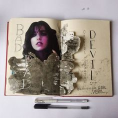 """An other sketchbook page. Collage techniques with an fashion photograph.  #sketchbook #sketch #illustration #art #drawing #draw #collage #fashion…"""